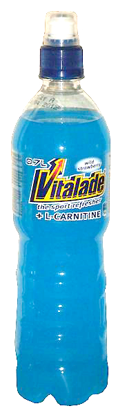 Vitalade blue wild strawberry flavour, 1 pack = 12 bottles (0,7 l)