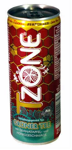 T-Zone pomegranate and honey flavoured green tea, 0,25 l cans, 1 tray