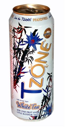 T-Zone White Tea with star fruit and lotus blossom, 0,5 l cans, 1 tray = 24 cans