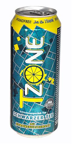T-Zone lemon flavoured black tea, 0,5 l cans, 1 tray = 24 cans
