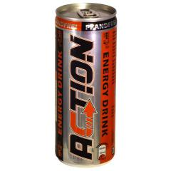 Action energy drink, 0,25 l cans, 1 tray = 24 cans