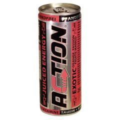 Action Exotic energy drink, 0,25 l cans, 1 tray = 24 cans
