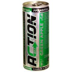 Action Green Apple energy drink, 0,25 l cans, 1 tray = 24 cans
